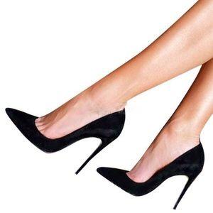 Schutz Black Pointed Caiolea Black High Heels